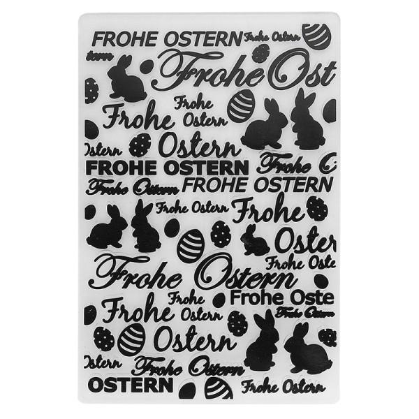 Prägeschablone, Frohe Ostern 2, 14,5cm x 9,5cm