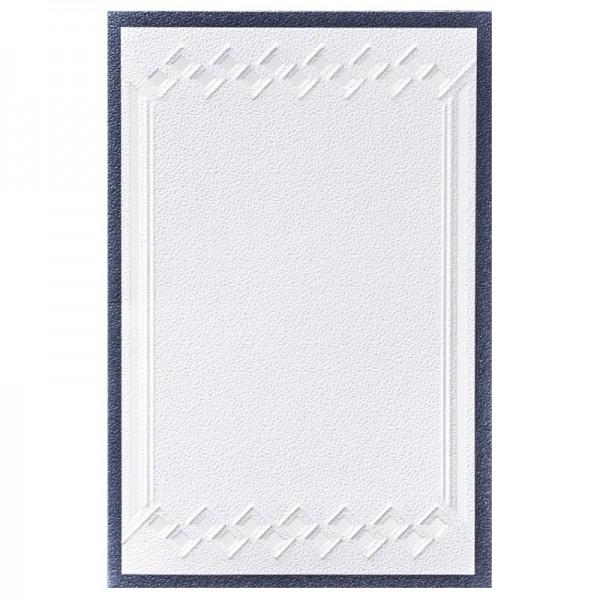 Exquisit-Grußkarten mit Top-Prägung, 10 x 15 cm, 10 Stück, weiß/anthrazit (nachtblau)