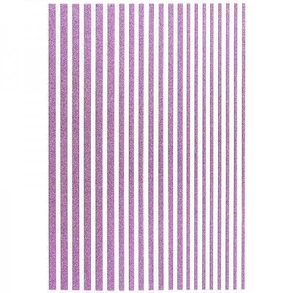"3-D Sticker-Bordüren ""Deluxe"", 28,5cm, verschiedene Breiten, violett"
