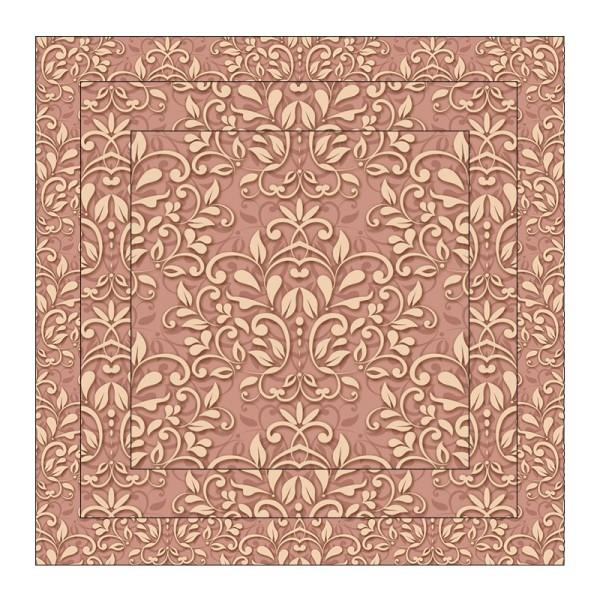 Faltpapiere, Duo-Design 4, 110 g/m², Ornamente/apricot, 150 Stück