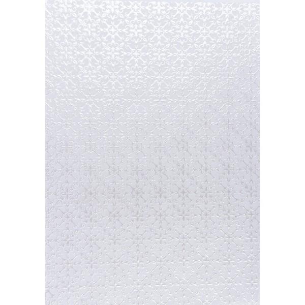 Transparentpapiere, Nova Noblesse 8, mit Top-Prägung & Perlmuttlack, DIN A4, 5 Bogen, weiß