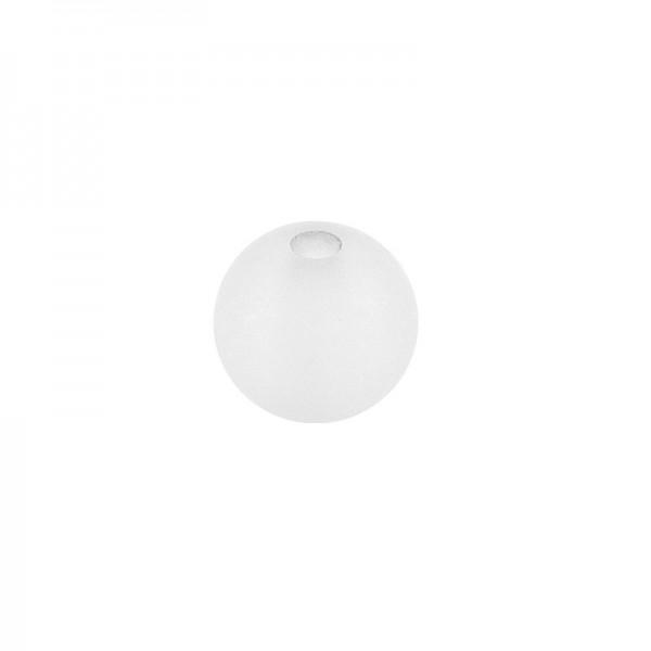 Perlen, gefrostet, Ø 8mm, 100 Stück, weiß