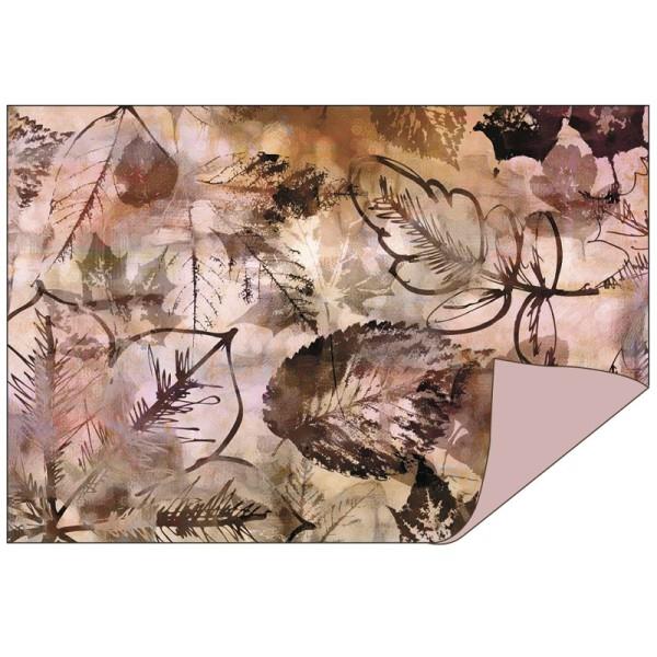 Faltpapiere Duo-Design 6, 10cm x 15cm, Blätter/flieder, 50 Stück