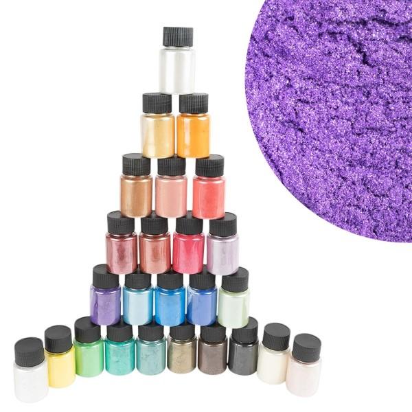 Mica-Pulver, Pigmente mit Perlmutt-Effekt, je 10g, 25 Stück