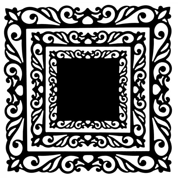 Präge- & Stanzschablonen, Rahmen & Zierdeckchen, 3 Stück