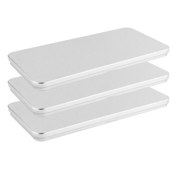 Metall-Boxen, 20,4cm x 10cm x 1,2cm, 3 Stück