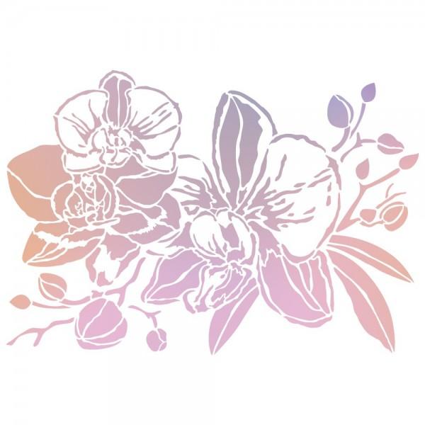 Folien-Bügeltransfer, Orchideen 2, DIN A4, rosé