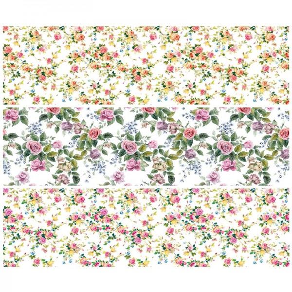 """Zauberfolien """"Mini-Rosen"""", Schrumpffolien für Ø8cm, 7,5cm hoch, 6 Stück"""