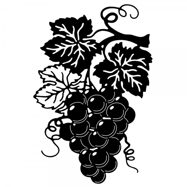 Stanzschablone, Weintrauben, 14,1cm x 9,1cm