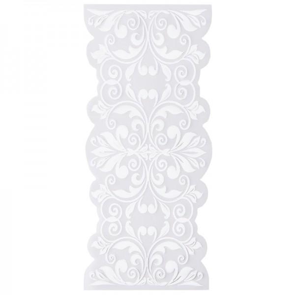 Noblesse Bordüren 2, Transparentpapier, 16,5cm x 8cm, weiß, 20 Stück