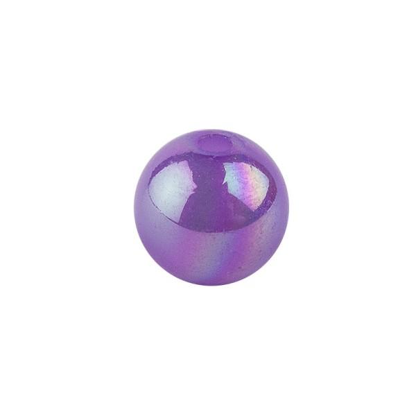 Perlen, irisierend, Ø 4mm, violett-irisierend, 200 Stk.