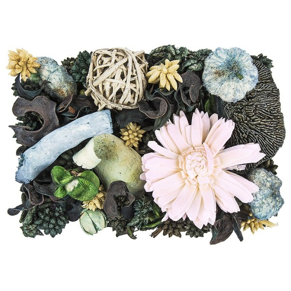 Edel-Potpourri, Patchouli, 200g, grün, rosa, natur