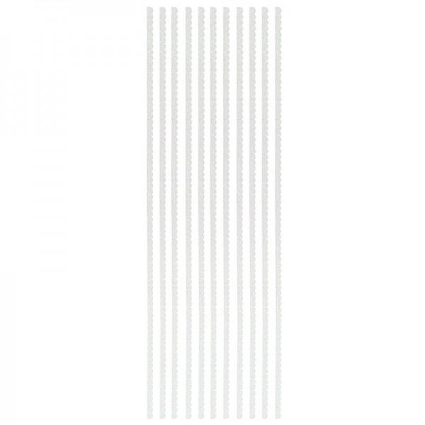 "Glitzer-Bordüren ""Anna"", selbstklebend, 10cm x 30cm, weiß"