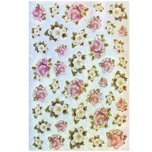 Hologramm-Sticker, Blüten, DIN A4