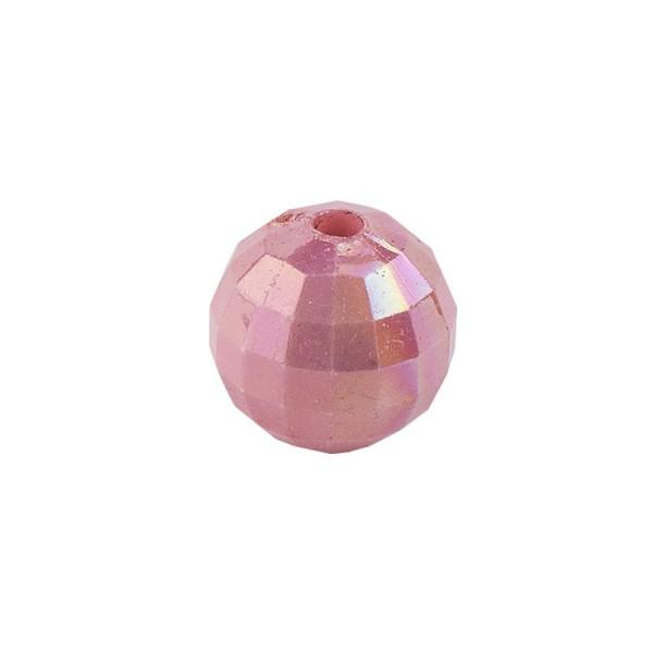 Perlen, facettiert, Ø 6mm, rosenholz-irisierend, 150 Stk.