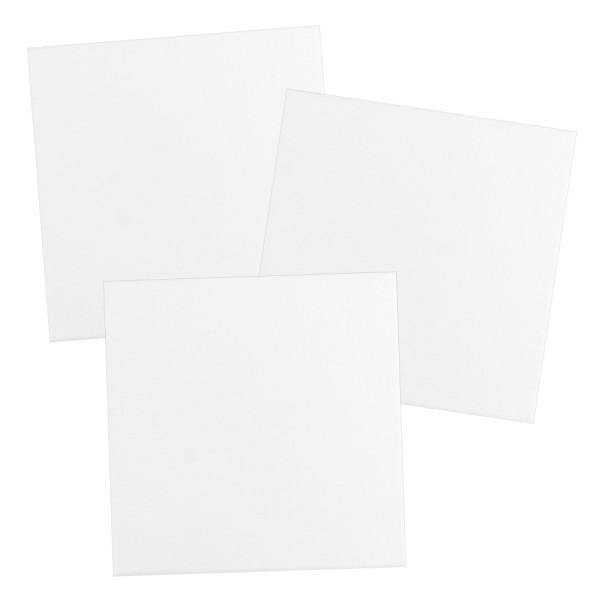 Leinwand auf Keilrahmen, 30cm x 30cm, 280g/m², weiß, 3 Stück