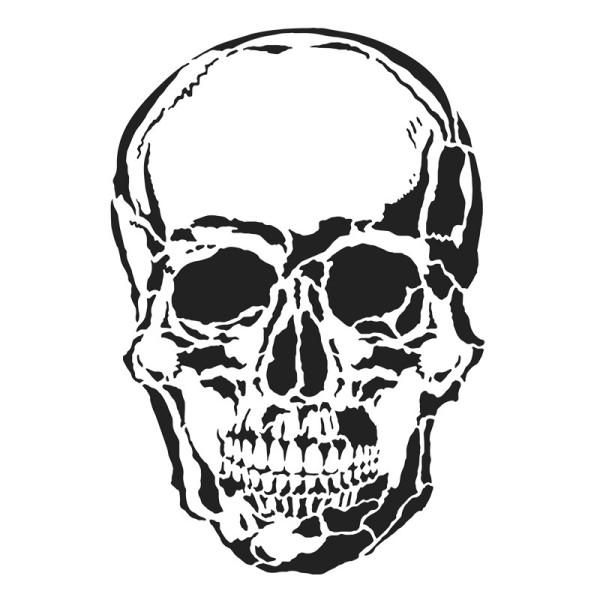 Laser-Kunststoff-Schablone, DIN A4, Skull
