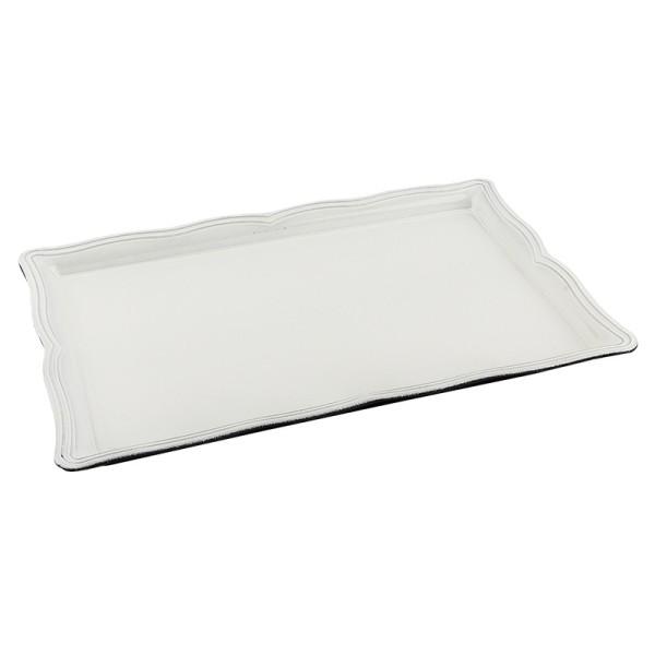 Tablett, 30,5cm x 21,5cm x 2,5cm weiß