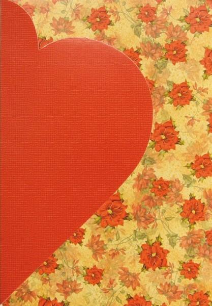 Motiv-Magnet-Karte Herz, B6, rot