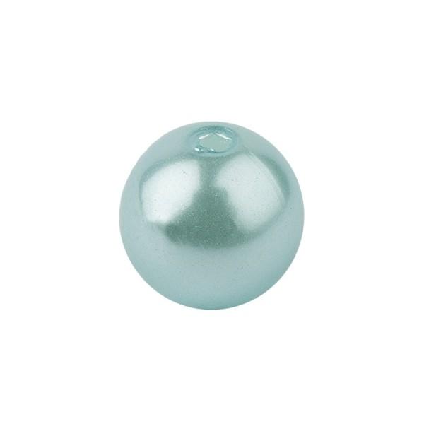 Perlmutt-Perlen, Ø1 cm, 50 Stück, mint
