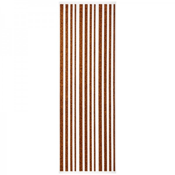 Glitzer-Bordüren, Sticker-Linien, 30 cm lang, 3-6 mm, orange