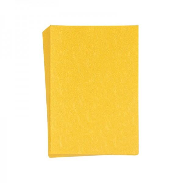 "Faltpapiere ""Nova 1"", 10x15cm, 50 Stück, ocker-gelb"