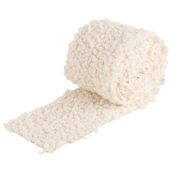 Kunstfell-Band Teddy, 8cm breit, 2m lang, creme-weiß