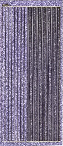 Microglitter-Sticker, Linien, flieder