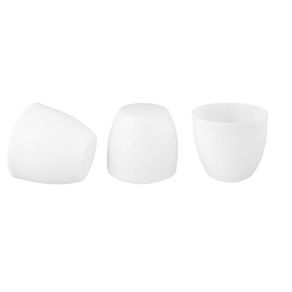 Lampenschirme zum Wechseln, Ø 12,3cm, 10cm hoch, weiß, 3 Stück