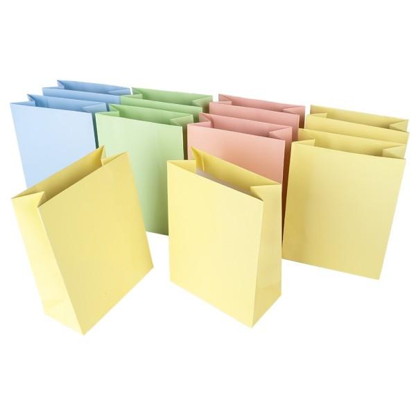 Mitteltasche, klein, 16,2 x 12,2 cm, 10 Stück, Pastelltöne