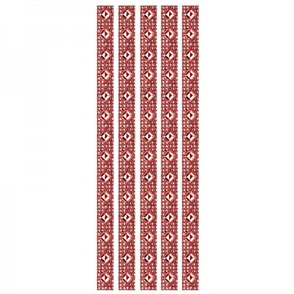 Royal-Schmuck, 5 selbstklebende Bordüren, 29 cm, rot