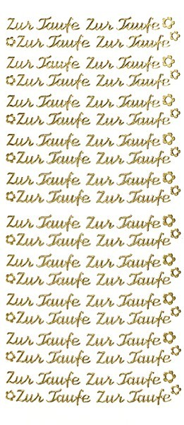 Sticker, Schrift, Zur Taufe in gold