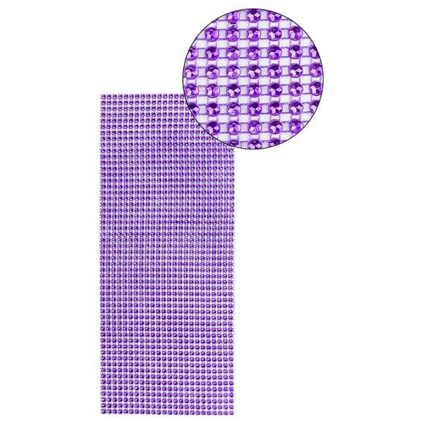 Schmuck-Netz, selbstklebend, 12cm x 30cm, violett