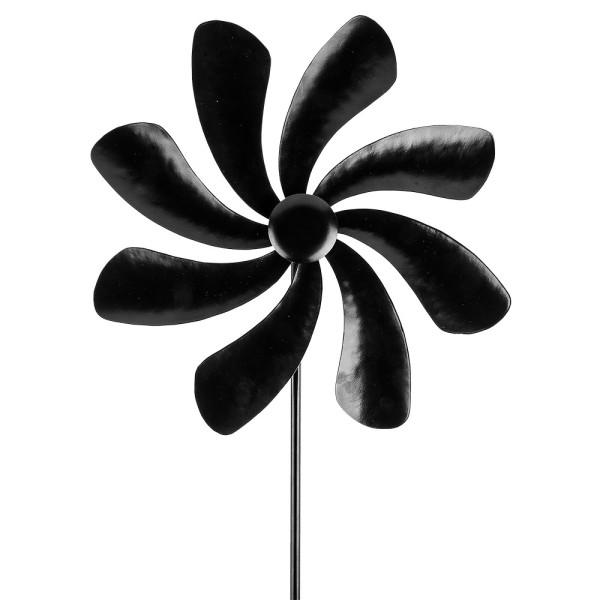 Windrad Design 2, Ø 29cm, Höhe 107cm, schwarz