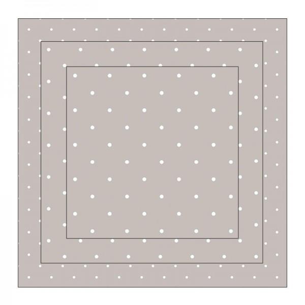 Faltpapiere, Duo-Design 8, 110 g/m², Punkte/grau, 150 Stück
