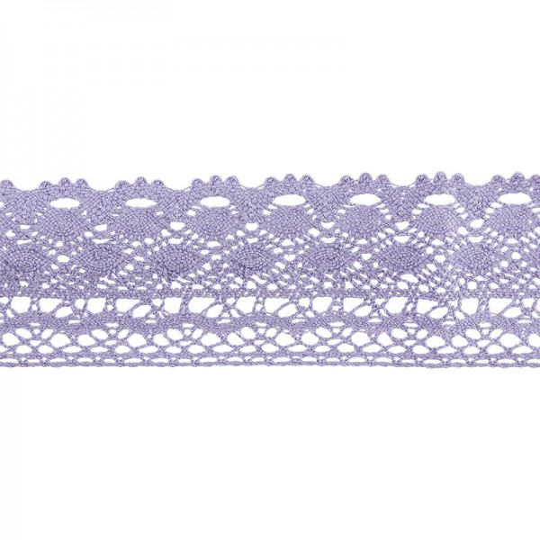Häkelspitze Design 2, 3,7cm breit, 2m lang, flieder