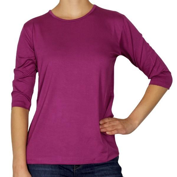 Creative Shirt, 3/4-Ärmel, fuchsia, Größe 36/38