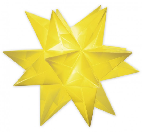 Aurelio Stern Set, transparent, 15cm x 15cm, 33 Blatt, gelb