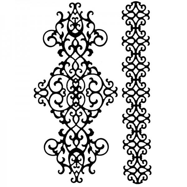 Stanzschablonen, Bordüren 5, 2 Stück