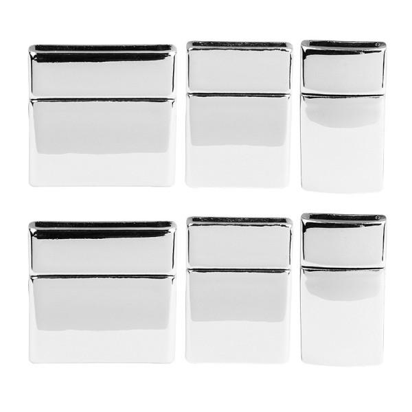Magnetverschlüsse, 3 verschiedene Designs, 6 Stück
