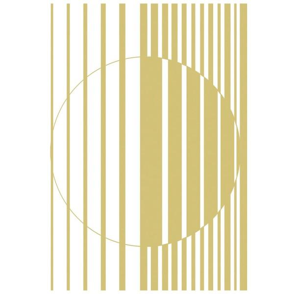 Metallic-Bügeltransfer, Hintergrund, Streifen & Kreis, 25cm x 34cm, gold glänzend