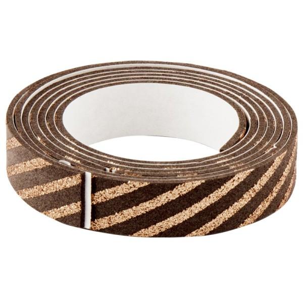 3-D Glamour-Tape/Deko-Klebeband, 15mm x 120cm, kaffee/kupfer