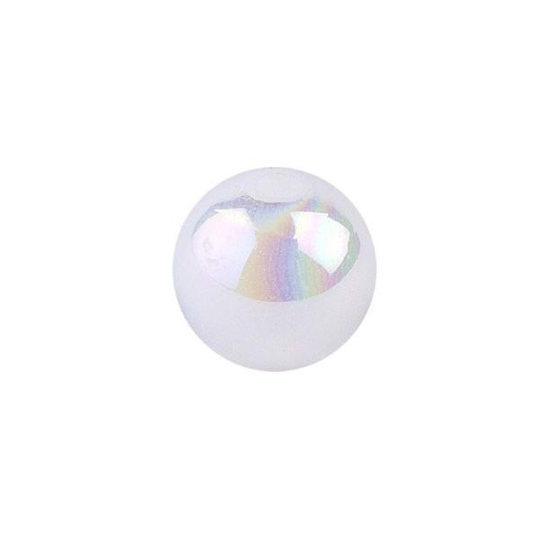 Perlen, irisierend, Ø 4mm, weiß-irisierend, 200 Stk.