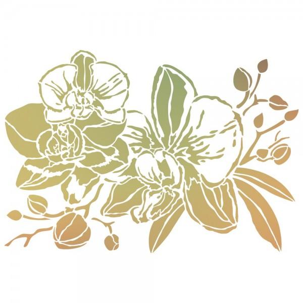 Folien-Bügeltransfer, Orchideen 2, DIN A4, gold