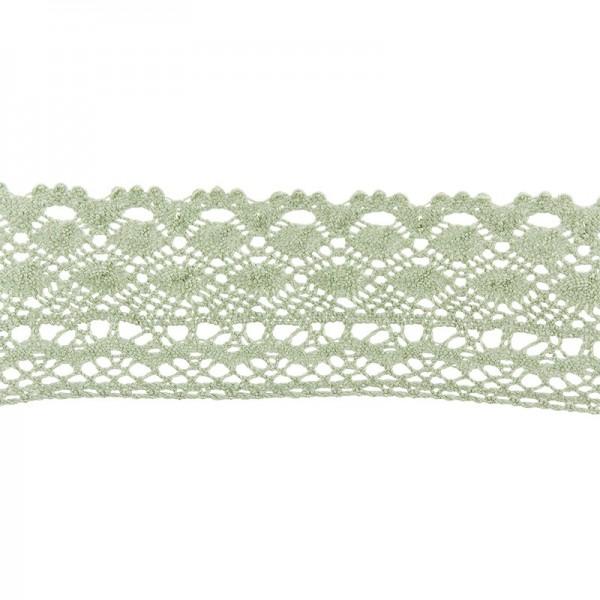 Häkelspitze Design 2, 3,7cm breit, 2m lang, grün