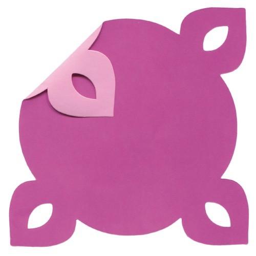 DuoColor Stanz-Faltpapiere, 13 x 13 cm, pink, 4 Ecken, 60 Blatt