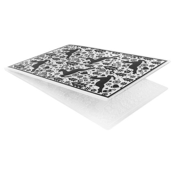 Prägeschablone, Hintergrund Weihnachten 1, 15cm x 10cm, passend für gängige Präge- & Stanzmaschinen