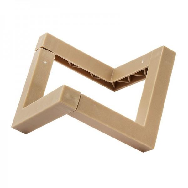Podest zum Stecken, aufgebaut: 9cm x 9,5cm x 4,5cm, für runde und ovale Gegenstände