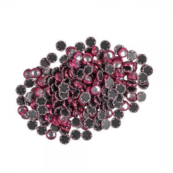 Hot-Fix Glas-Kristalle zum Aufbügeln, Ø 4mm, fuchsia, 200 Stück