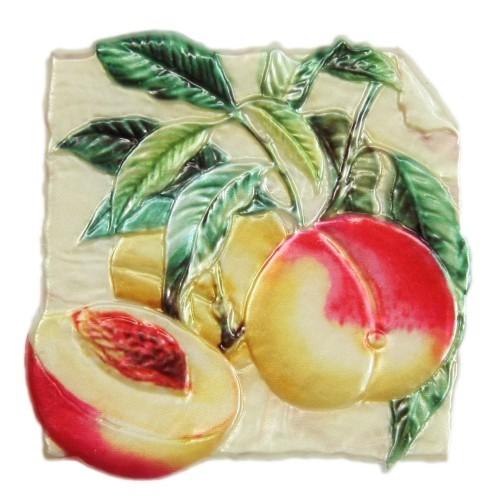 Wachsornament, Nektarinen, farbig, geprägt, 7,5x7,5cm